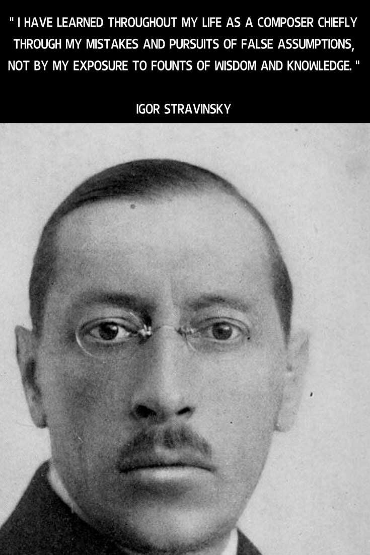 Music And Thoughts Igor Stravinsky